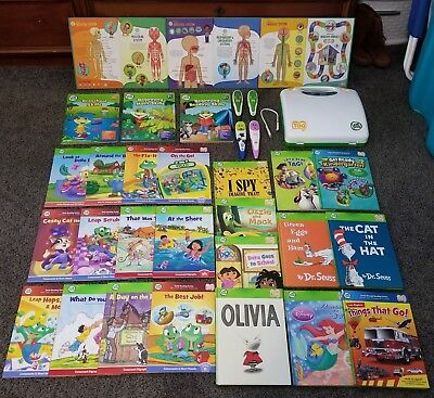 LeapFrog Tag Reader Lot Leap Frog Tag Lot - 25 Books , 4 Pens and a Case