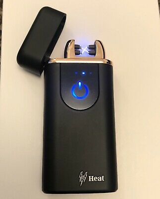 Led Display Heat Dual Arc Arch Rechargeable Usb Electric Pulse Plasma Lighter
