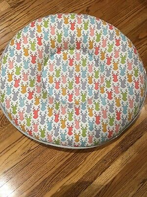 PELLO Baby Floor Pillow Play Mat Lounger Deer Print SOLD OUT, 2 holes in trim