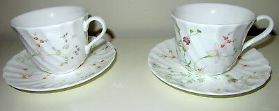 Two  Wedgwood Campion Cups And Saucers