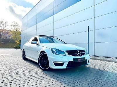 2013 63 reg Mercedes-Benz C63 AMG 6.3 Coupe WHITE + HK + PAN ROOF