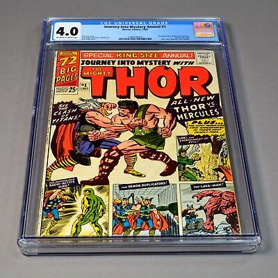 Journey Into Mystery Annual # 1 Marvel comic CGC slabbed and graded 4.0 VG! THOR