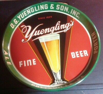 YUENGLING BEER TRAY DECO ULTRA RARE 1940's EXCELLENT COND.