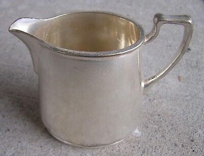 """Cunard White Star Line Rms Queen Mary Silver Plate 3"""" Tall Creamer Date 1948"""