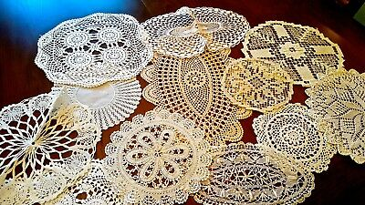 Beautiful Vintage & Antique Small Doilies INTRICATE ORNATE Design MINT Cond B28