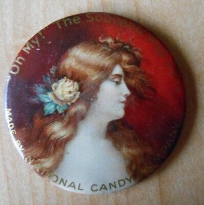Antique National Candy Company Advertising Pocket Mirror