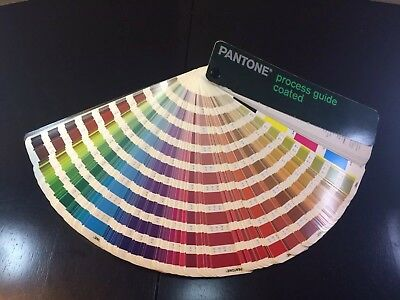 Pantone Process Guide Coated Flip Book Swatch Pages Fan