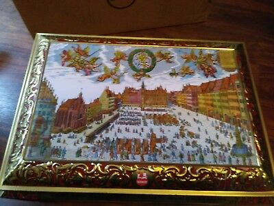 Large German 2000 Cookie Tin with hinged top
