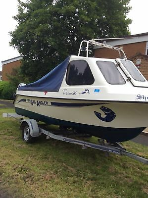 Predator 165 Sea Fishing Boat with trailer and 2 x engines