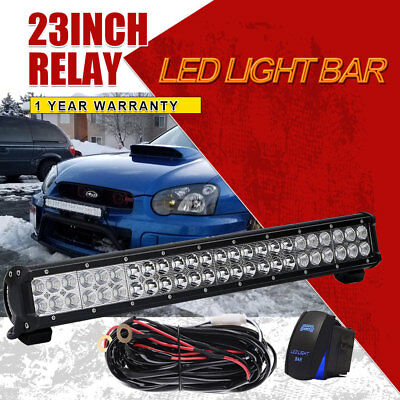 """144W 23Inch Led Work Light Bar Combo Driving Offroad For Rzr Suv Fog Lamp 22"""""""