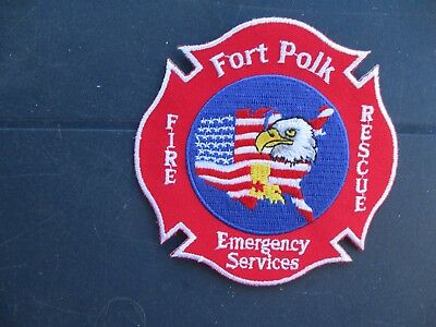 Patch Fort Polk, Fire Rescue, Emergency Service, Search and Rescue, rotes Kreuz