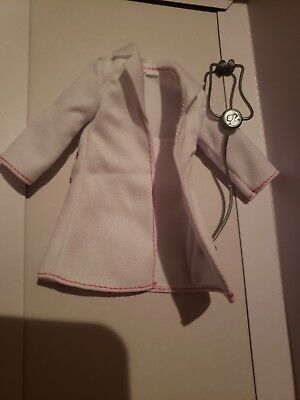2018 Barbie Doll DOCTOR'S LAB COAT & STETHOSCOPE  New FITS CURVY