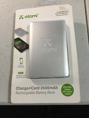 Atomi Charge Card 2500mah Rechargeable Battery Bank 799 Picclick