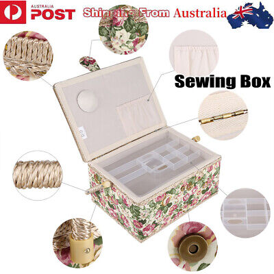 Basket Sewing Box Gift Set with Sewing Tool Kit Accessories Storage Case