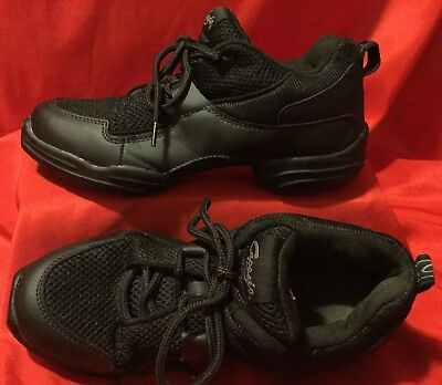 CAPEZIO ... Black Split Sole Street Dance Sneakers Shoes ... Women's Size 8