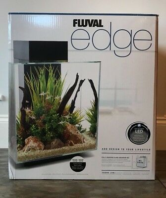 Hagen Fluval Edge Led Aquarium 46 Litre Black Gloss Costs 194 New