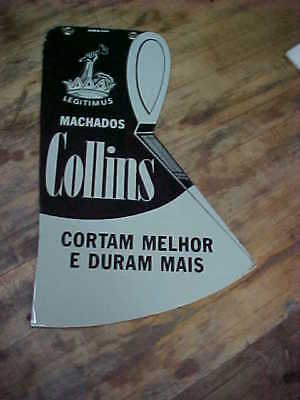 Vintage Collins Axes Porcelain Advertising Sign