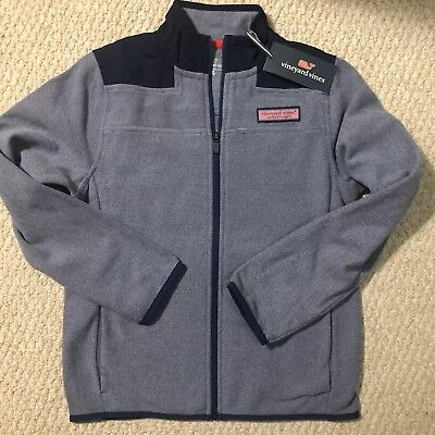 Vineyard Vines Boys End on End Fleece Solid NWT Size M(12-14)