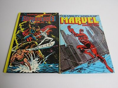 The Mighty World of Marvel Annual 1979 & The Superheroes Annual 1979 VG 2 books
