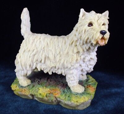 Westie Arista Designs Scotland West Highland White Terrier Figurine1981 Signed