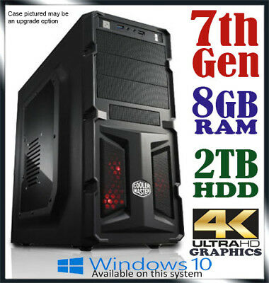 Intel Dual Core Gaming Computer 8GB Ram 2TB Office Desktop System PC i3 i5 i7