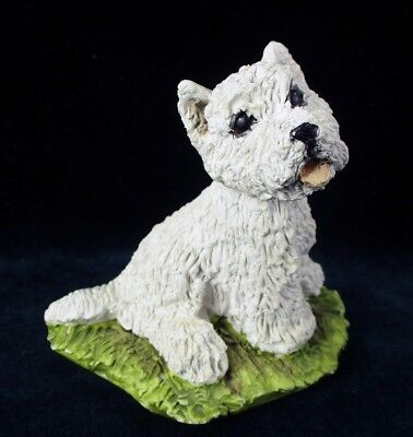 "Stef Westie Figurine England Puppy West Highland White Terrier 3"" UK Dog"