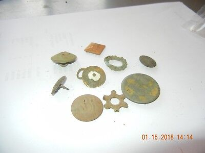 Metal detector find of dug misc jewelry pieces appear 1800-1900s