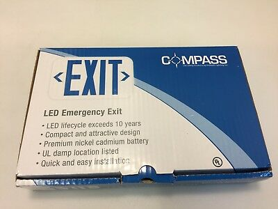 Compass CER White 2-Light Thermoplastic Integrated LED Emergency Light