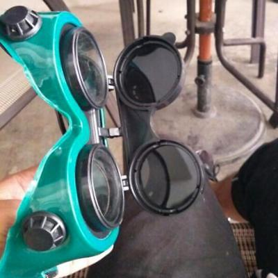 Flip Up Welding Safety Goggles  tect Solder Welder Glasses Double Lense.