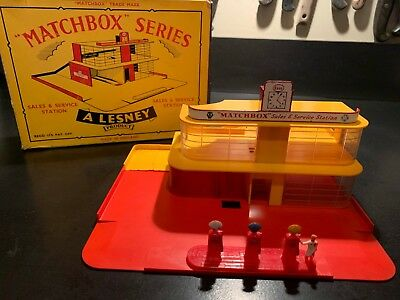 Vintage Lesney Matchbox Mg 1 Sales & Service Station 1961/1963 In Original Box