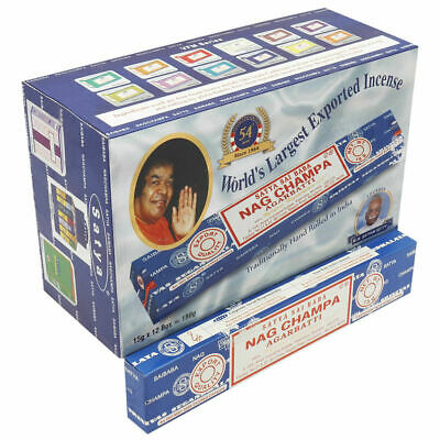 3 Packs Original Satya Sai Baba NAG CHAMPA Incense Sticks Insence 15g