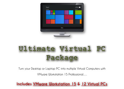 VMWare 15 Pro with 12 Virtual PCs with Operating Systems & Drivers DOWNLOAD