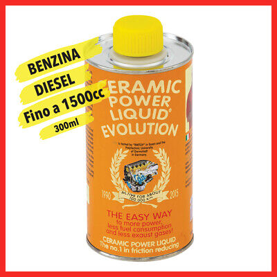 CERAMIC POWER LIQUID EVOLUTION TRATTAMENTO OLIO MOTORE FINO A 1.500CC 300ml
