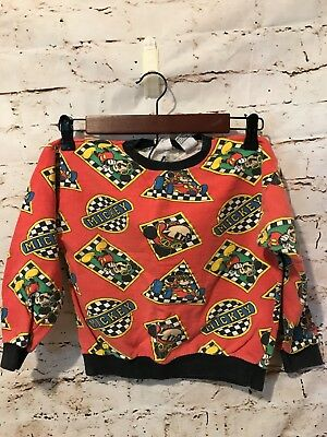 Mickey & CO Vintage Kids Youth Boys Sweatshirt Medium J.G. Hook Racetrack Cars