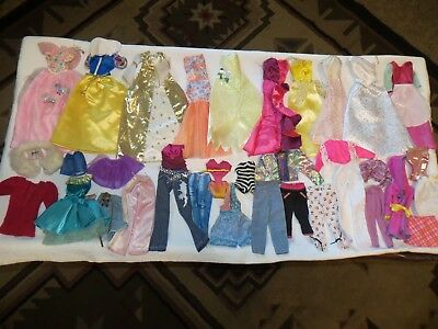 "Barbie Or 12"" Size Doll Clothes Lot~Disney Dress~Gowns~Swim Suits~Pants~Skirts"