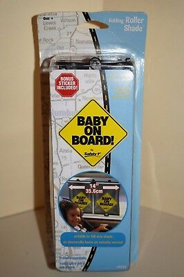 """Safety 1st Baby on Board Folding Roller Shade for Car Vehicle 14"""""""