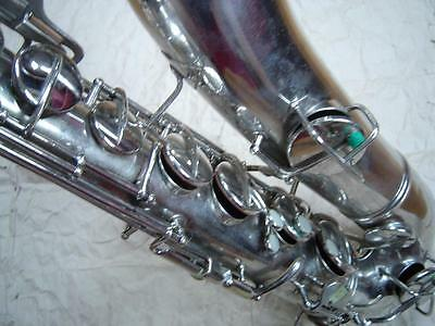 C.G. Conn Nickel Plate Lester Young Era Tenor Sax - Excellent Condition