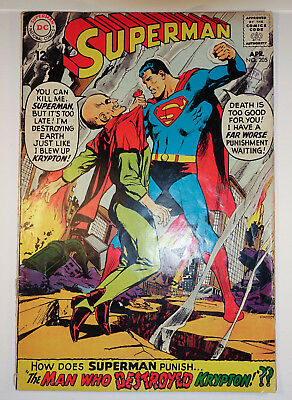 DC Comic Superman 205 Apr 1968 Silver Age Neal Adams Cover Krypton Destroyed