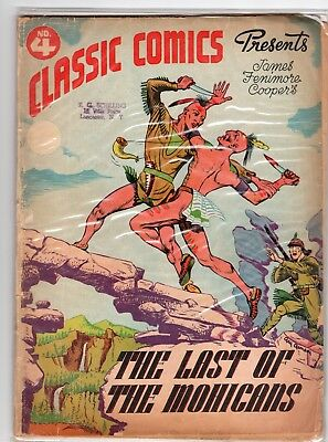 Classic Comics #4. The Last of the Mohicans