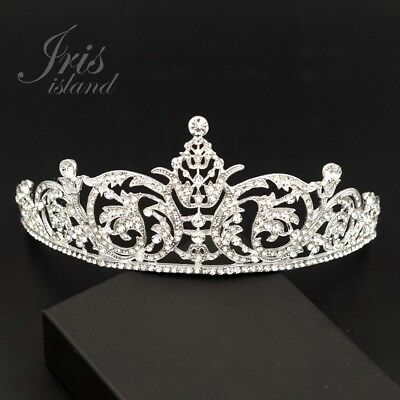 Gorgeous Clear Austrian Crystal Rhinestone Tiara Crown Bridal Party Pageant 77 S