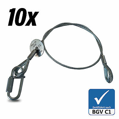 10x Fangseil Safety BGV-C1 60cm x 3mm Sicherungsseil Made in Germany Typenschild