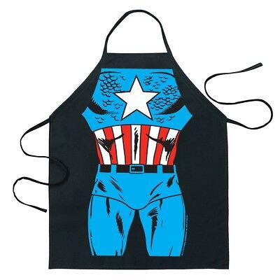 Cartoon Comic Kitchen Cooking Apron (Captain America)
