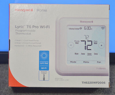 Honeywell TH6220WF2006 Lyric T6 Pro WiFi Programmable Thermostat - New Sealed