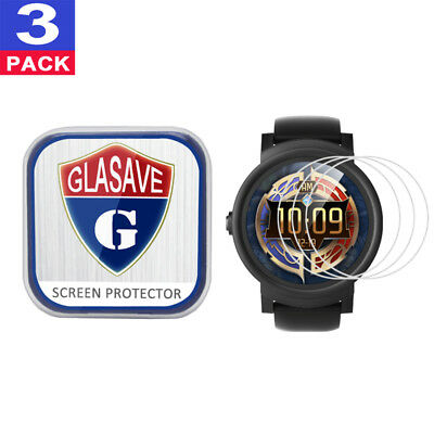 (3 Pack) GLASAVE Tempered Glass Screen Protector For Mobvoi TicWatch E Express