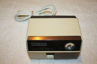 Vtg Panasonic KP-110 Auto Stop Electric Pencil Sharpener Wood Grain Japan Corded