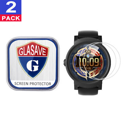 (2 Pack) GLASAVE Tempered Glass Screen Protector For Mobvoi TicWatch E Express