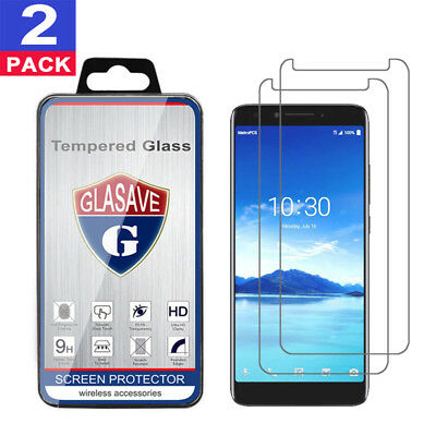 (2 Pack) GLASAVE For Alcatel 7 Tempered Glass Screen Protector Clear Film