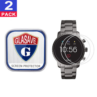 2Pack GLASAVE Fossil Q Explorist HR (Gen 4) 45mm Tempered Glass Screen Protector