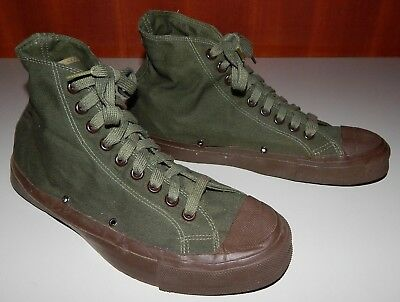 Vintage Military High Top Canvas Athletic Gym Shoe OD Green Shoes