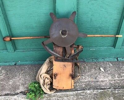 Antique South Bend Feeder Seed Sower Primitive Farm Farming Tool Indiana Vintage